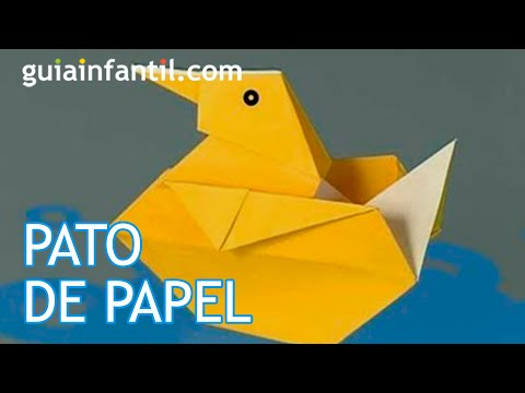 Cómo hacer un pato de papel. Origami