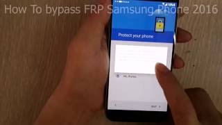 How to bypass FRP samsung galaxy S7 Solo no box no otg no apk