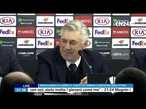 conferenza stampa dopo Napoli - Zurigo