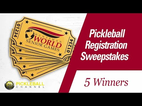 2015 Huntsman World Senior Games Pickleball Sweepstakes