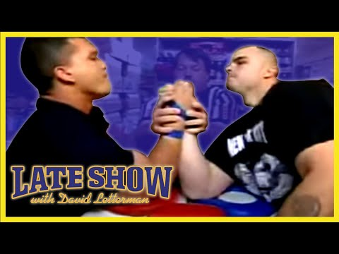 ARMWRESTLING WORLD CHAMPIONS ON DAVID LETTERMAN