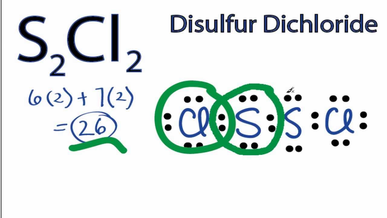 S2cl2 Lewis Structure  How To Draw The Lewis Structure For S2cl2
