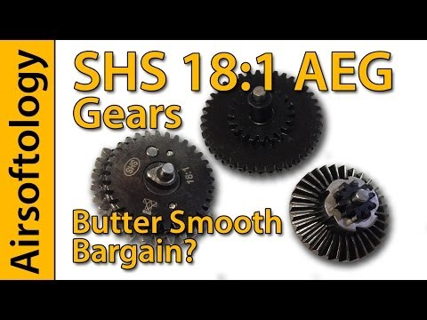 Butter Smooth Bargain Gears? | SHS 18:1 AEG Gearset | Airsoftology