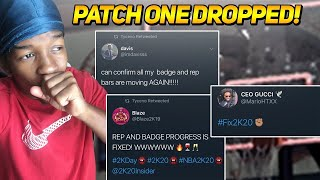 *NEW* NBA 2K20 PATCH 1 UPDATE IS HERE!!! REP/BADGE PROGRESS FIXED + SPEED INCREASE!! *NOT CLICKBAIT*