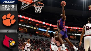 Clemson vs. Louisville Condensed Game | ACC Basketball 2019-20