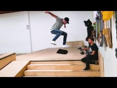 LANCE BATTLES THE 3 STAIR KICKFLIP!!!