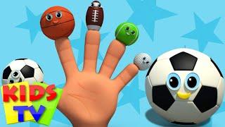 sports ball finger family | nursery rhyme | kids songs | baby videos | kids tv nursery rhymes