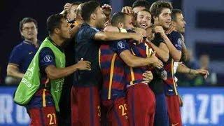 اهداف مباراة برشلونة 5-4 اشبيلية - كاس السوبر الاوروبى   تعليق عصام الشوالي HD