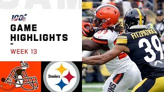 Browns vs. Steelers Week 13 Highlights | NFL 2019