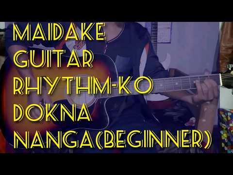 How to play guitar rhythm for beginner (in garo)