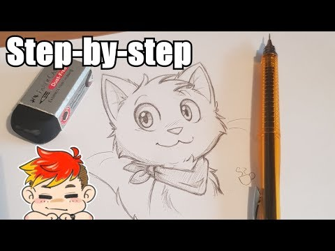 ✏ Drawing Walkthrough: How to draw a sweet weeaboo cat