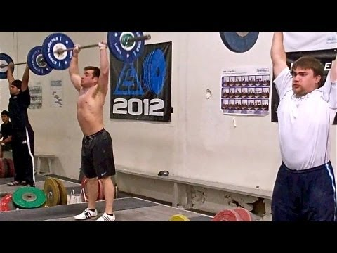 Olympic Weightlifters Mix It Up with High Rep Clean & Press Set Image 1