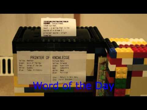 Raspberry Pi-controlled Printer of Knowledge - Alex Stranz