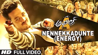Download Nennekkadunte (Energy) Full Video Song || Akhil-The Power Of Jua || Akhil Akkineni, Sayesha 3Gp Mp4
