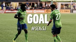 GOAL: Obafemi Martins chips in from impossible angle | Seattle Sounders vs. San Jose Earthquakes