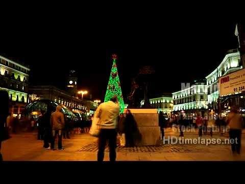 Madrid, Spain - HD 2K 4K Time Lapse Stock Footage Royalty-Free