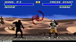 Ultimate Mortal Kombat 3 - NOOB SAIBOT - Very Hard (SNES)