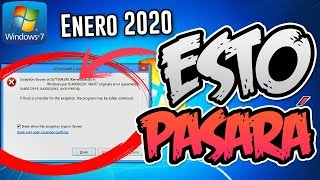 ⚠️Advertencia! Windows 7 Enero 2020 💀 / Esto es lo que PASARA?  😱