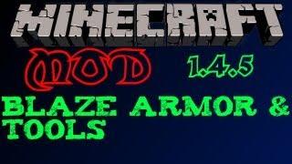 Minecraft Mod 1.4.5 - Blaze Tools/Armor