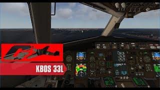 [X-Plane 11] B767-300 Landing - KBOS 33L [Mister6X KBOS scenery!]
