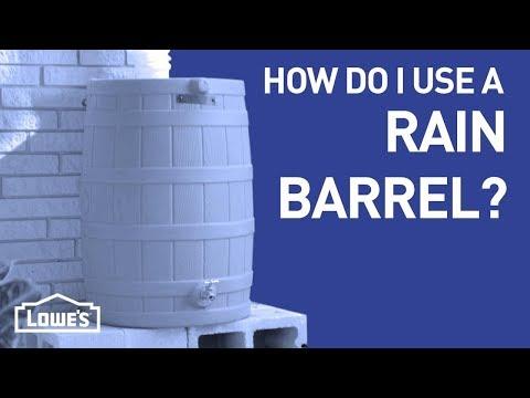 How Do I Use a Rain Barrel? | DIY Basics
