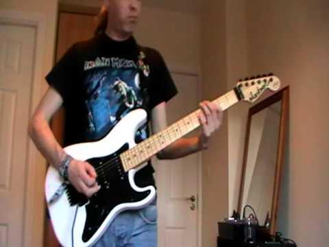 Iron Maiden Stranger in A Strange Land Cover on Jackson Adrian Smith San Dimas SDX