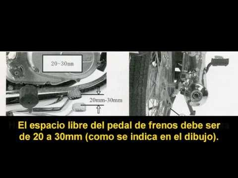 Tutorial regular frenos traseros de motos suzuki Ax 100 [HD]