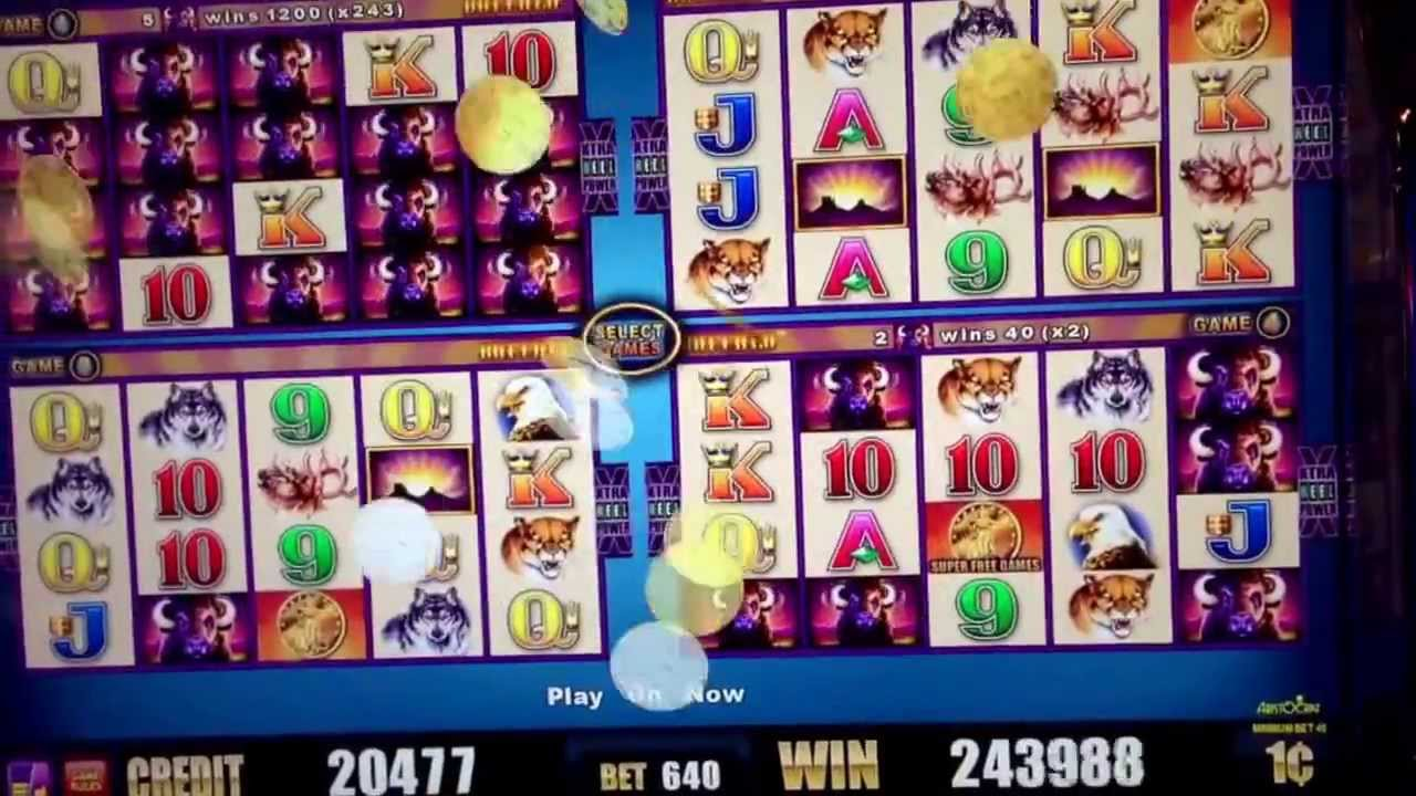 buffalo deluxe wonder four slot machine
