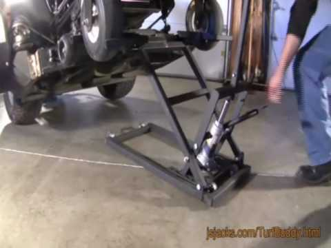 The TurfBuddy Riding Lawn Mower Lift from J&S Jacks