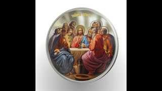 Niue 2012 - 2$ - High Relief - Orthodox Serie - LAST SUPPER - 1oz Silver RARE