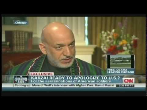 Afghanistan President Hamid Karzai Interview with Wolf Blitzer Chicago Illinois (May 21, 2012) [2/2]