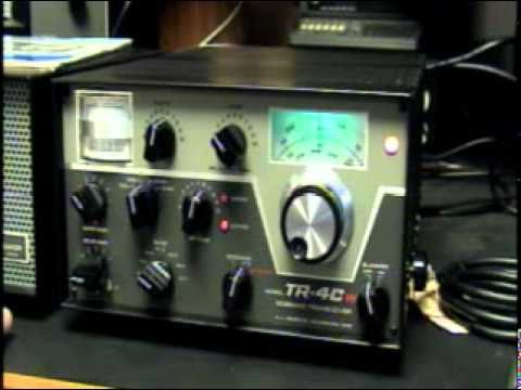 Demo Drake TR-4CW Ham Radio SSB CW AM Tube Transceiver
