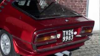 Alfa Romeo Montreal exhaust sound and legendary engine [HD]