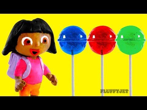 Dora The Explorer Stop Motion Play Doh kids Family Fun Candy shop Pretend Playtime Episode