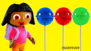 Dora The Explorer Stop Motion Play Doh kids Family Fun Candy shop Pretend Playtime Episode