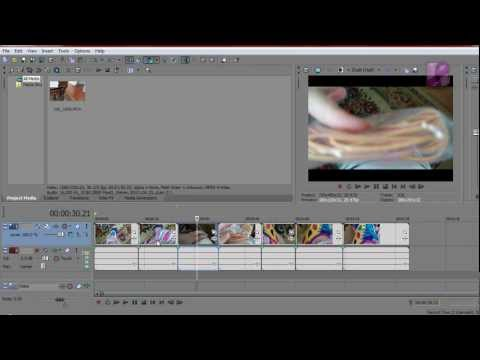 Adding Effects to Multiple Clips at the Same Time in Sony Vegas Pro
