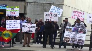 Ethiopia - #OromoProtests Solidarity Rally at CNN Center in Atlanta - December 10, 2015