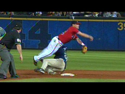 Furcal, Giles turn two despite hard slide