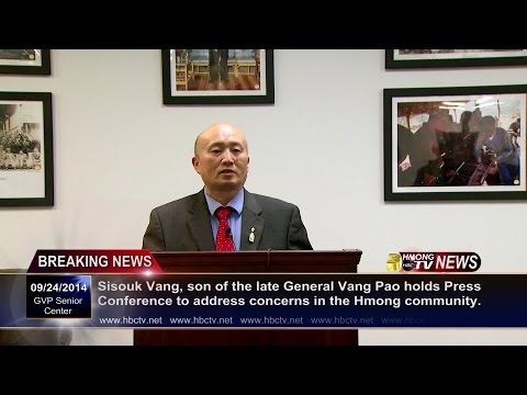 3HMONGTV NEWS[HD]: Sisouk Vang holds press conference urging Hmong leaders to reunite.