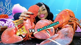 Smackalicious Larry v Flamin Hot Cheetos Larry the Lobster