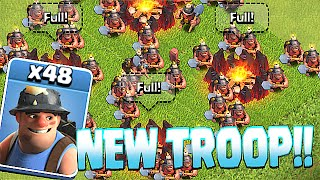 Clash Of Clans - NEW MINER TROOP!! (Clash royale character!!)