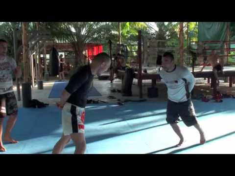 Fighter foot work drill to improve hand eye body coordination Image 1
