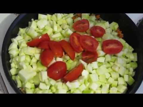 Как потушить кабачки - видео