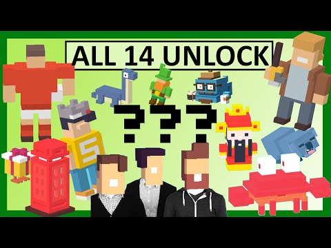 CROSSY ROAD All NEW 14 Secret Characters Unlock | Micro Update Mystery: Michael Boom, Jughead, Rugby