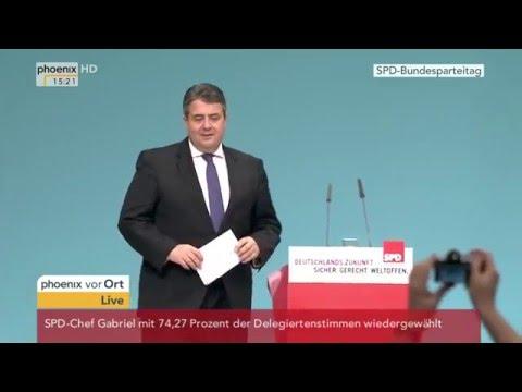 SPD-Parteitag: Parteichef Sigmar Gabriel wird wiedergewählt am 11.12.2015