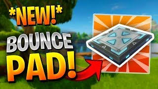 Fortnite: NEW BOUNCE TRAP ITEM GAMEPLAY! | New Update