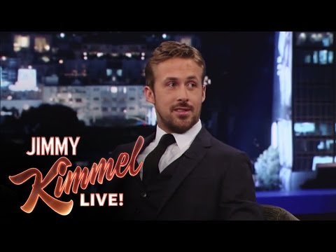 Ryan Gosling on Jimmy Kimmel Live PART 1