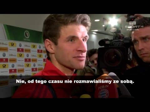 Thomas Mueller: od losowania nie rozmawiam z Lewandowskim