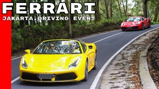 Ferrari Jakarta Driving Event With 488 GTB, 488 Spider, and GTC4Lusso