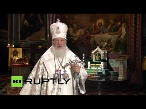 LIVE: Putin and Medvedev attend Orthodox Easter Liturgy Mass in Moscow